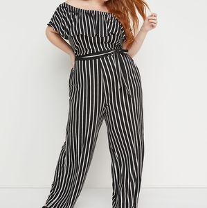 Lane Bryant x Beauticurve Striped Jumpsuit